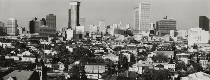 "New Orleans, 1980, N82-8511-23-183, 8""x20"" gelatin silver chloride contact print"