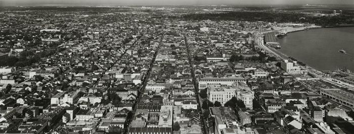 "New Orleans, 1985, N82-8511-71-231, 8""x20"" gelatin silver chloride contact print"